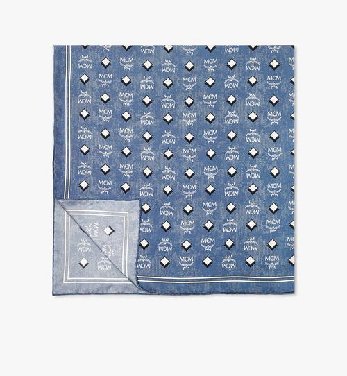 復古花押字圖案真絲圍巾