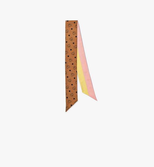 縮寫字母圖案絲質斜紋圍巾