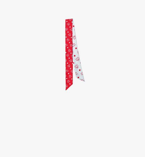 花押字圖案真絲斜紋圍巾