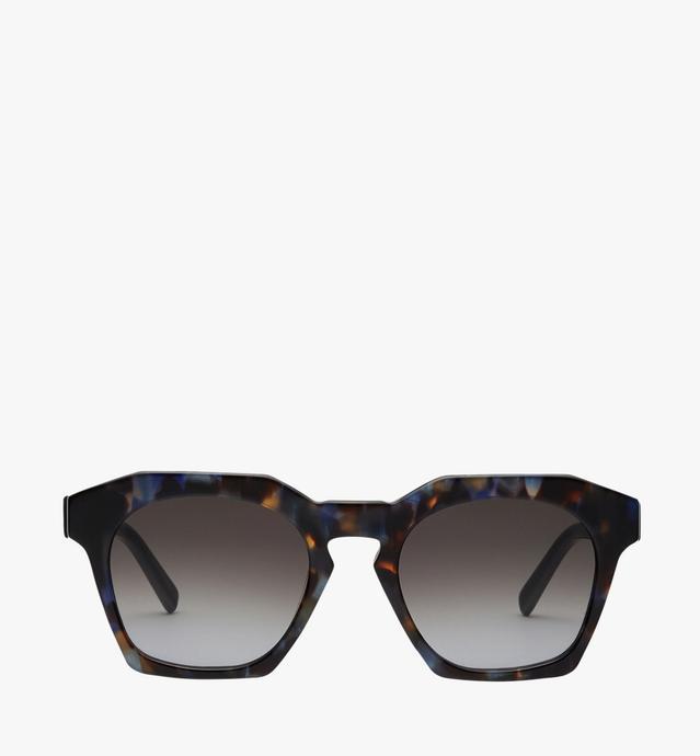 Quadratische Sonnenbrille mit Logoplakette