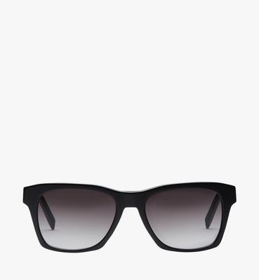 Rechteckige Sonnenbrille mit Logo-Plakette