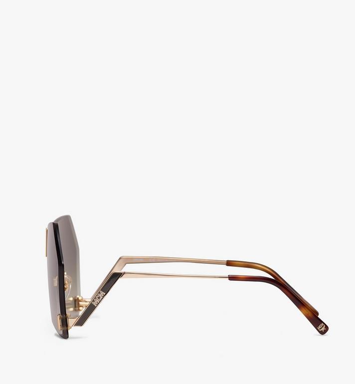 MCM Geometric Oversized Sunglasses Grey MEG9A2I03GK001 Alternate View 2