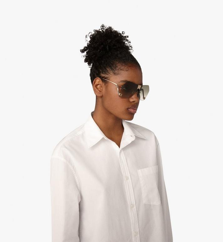 MCM Geometric Oversized Sunglasses Grey MEG9A2I03GK001 Alternate View 4