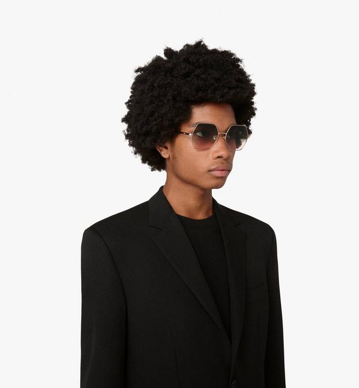 MCM Geometric Oversized Sunglasses Brown MEG9A2I06NR001 Alternate View 4