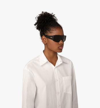 MCM Shield Sunglasses  MEG9A2I11BK001 Alternate View 4