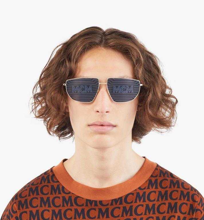 MCM Men's 151S Hologram Aviator Sunglasses  MEGAAMM11DG001 Alternate View 3