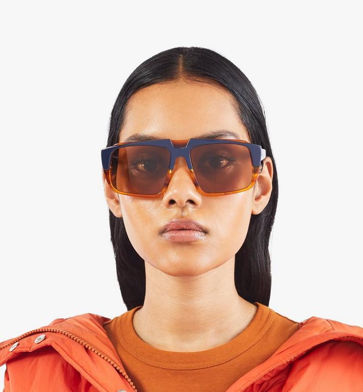 MCM 693S Square Sunglasses Orange MEGASMM07OR001 Alternate View 4