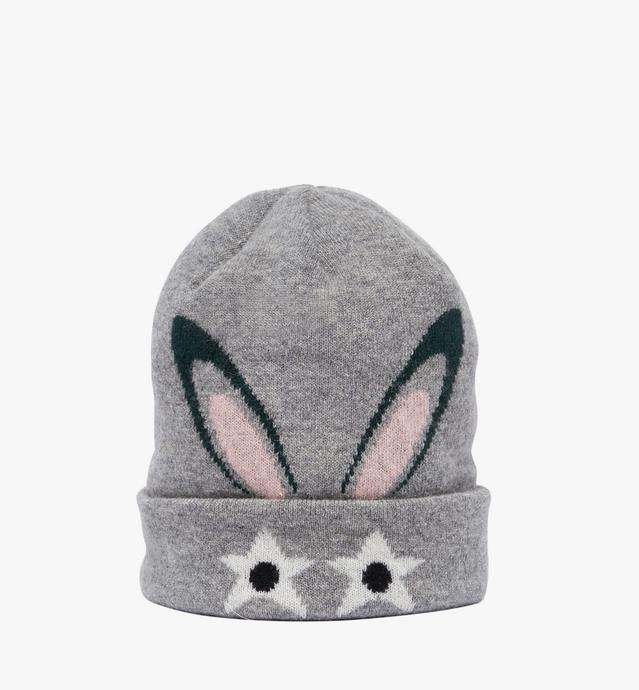 Beanie in Star Eyed Bunny Print
