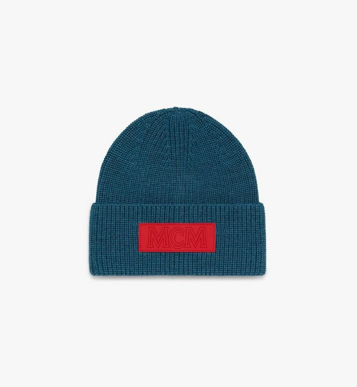 MCM Logo Patch Wool Beanie  MEH9AMM01JF001 Alternate View 1
