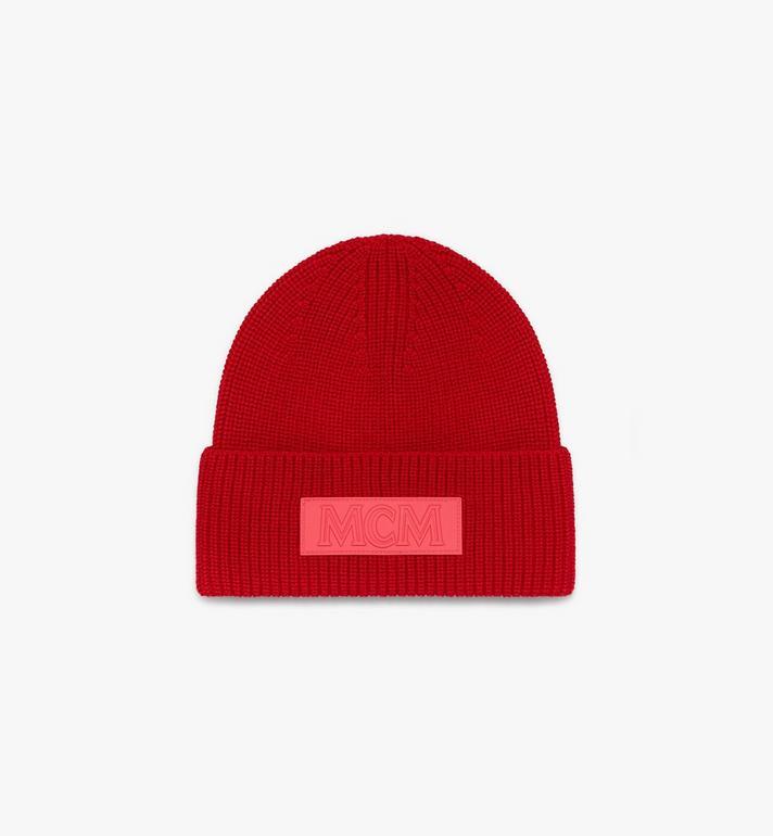 MCM 標誌補丁羊毛帽 Red MEH9AMM01R4001 Alternate View 2