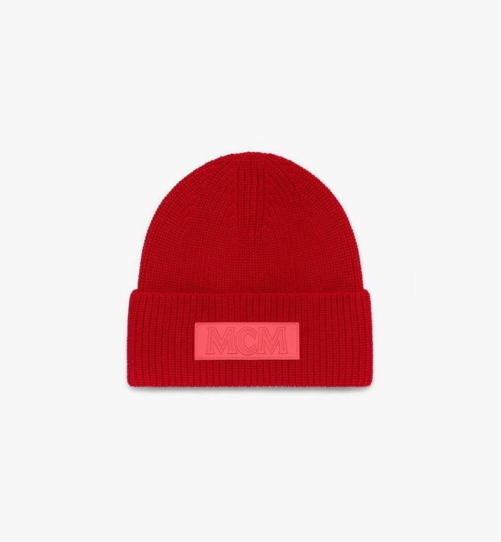 MCM Logo Patch Wool Beanie  MEH9AMM01R4001 Alternate View 2