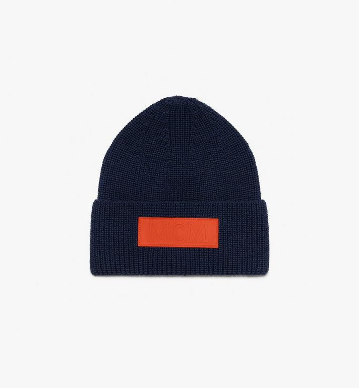 MCM Logo Patch Wool Beanie  MEH9AMM01VS001 Alternate View 2