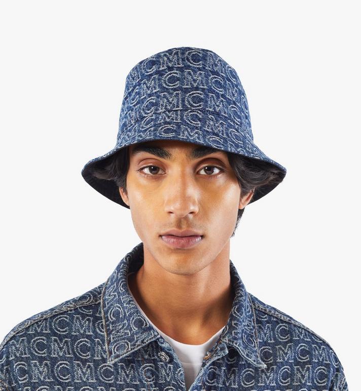 MCM Bucket Hat in Monogram Denim Black MEHAADS02VW001 Alternate View 5