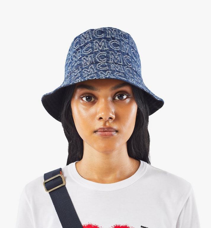 MCM Bucket Hat in Monogram Denim Black MEHAADS02VW001 Alternate View 7