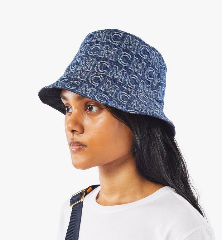 MCM Bucket Hat in Monogram Denim Black MEHAADS02VW001 Alternate View 8
