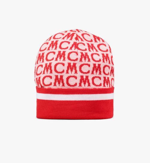 Bonnet en laine à monogramme MCM