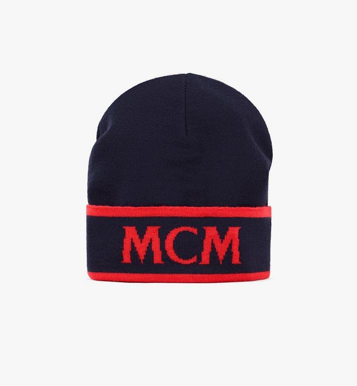 MCM Wollmütze mit kontrastierendem Logo Alternate View