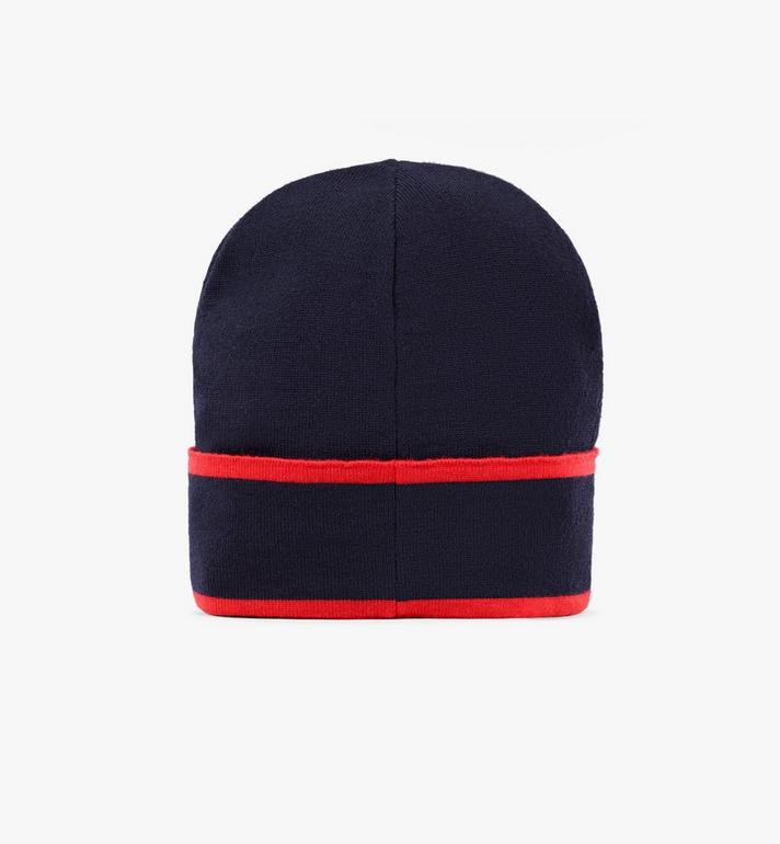 MCM Contrast Logo Wool Beanie Blue MEHAAMD02VU001 Alternate View 2