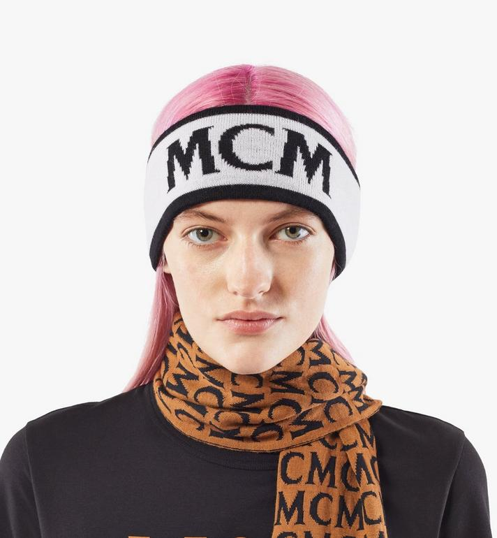 MCM Logo Headband Black MEHAAMM01WT001 Alternate View 5