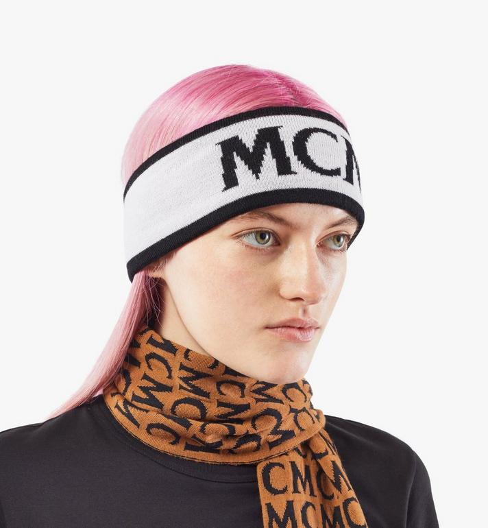 MCM Logo Headband Black MEHAAMM01WT001 Alternate View 6