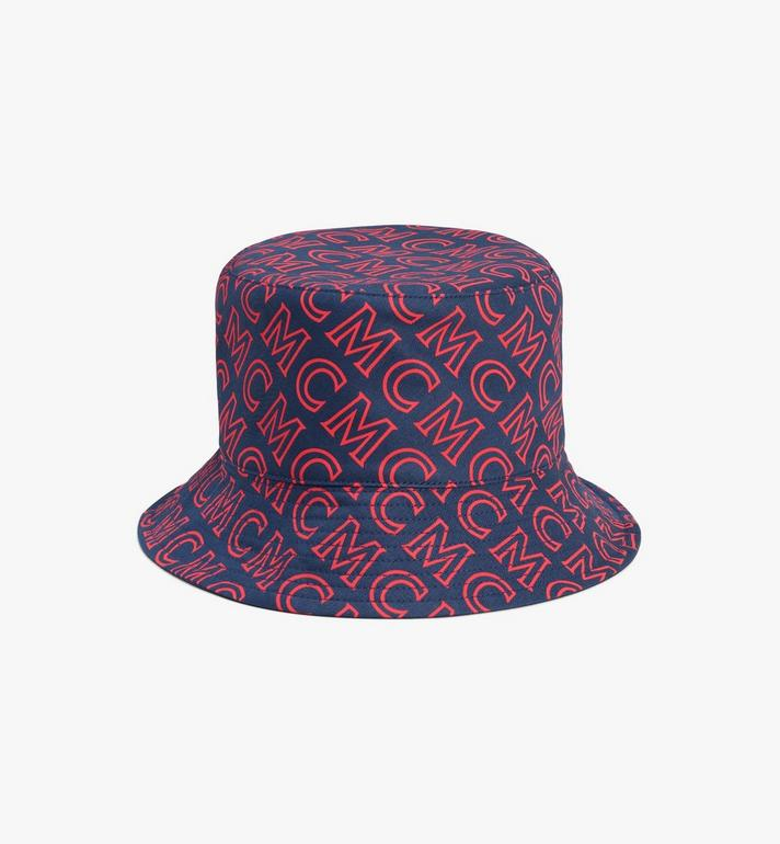 MCM Reversible Monogram Bucket Hat Blue MEHAAMM03VV001 Alternate View 1