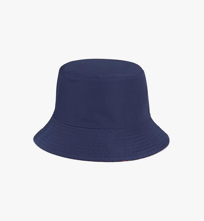 MCM Reversible Monogram Bucket Hat Blue MEHAAMM03VV001 Alternate View 3