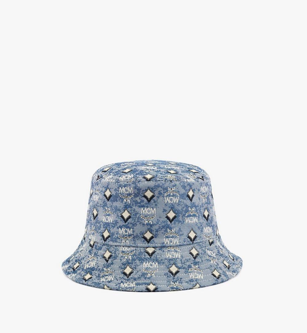 หมวกทรงบัคเก็ตผ้าแจ็คการ์ดลายโมโนแกรมวินเทจ 1