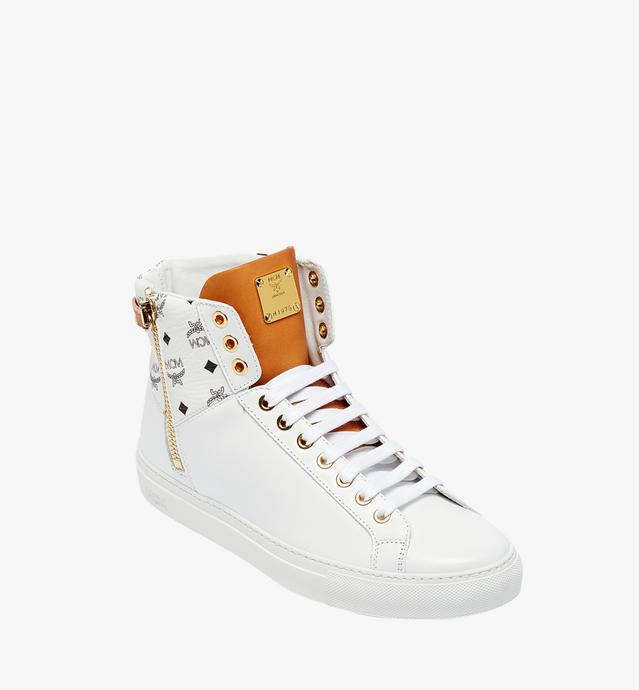 Women's High Top Classic Zip Sneakers in Leather