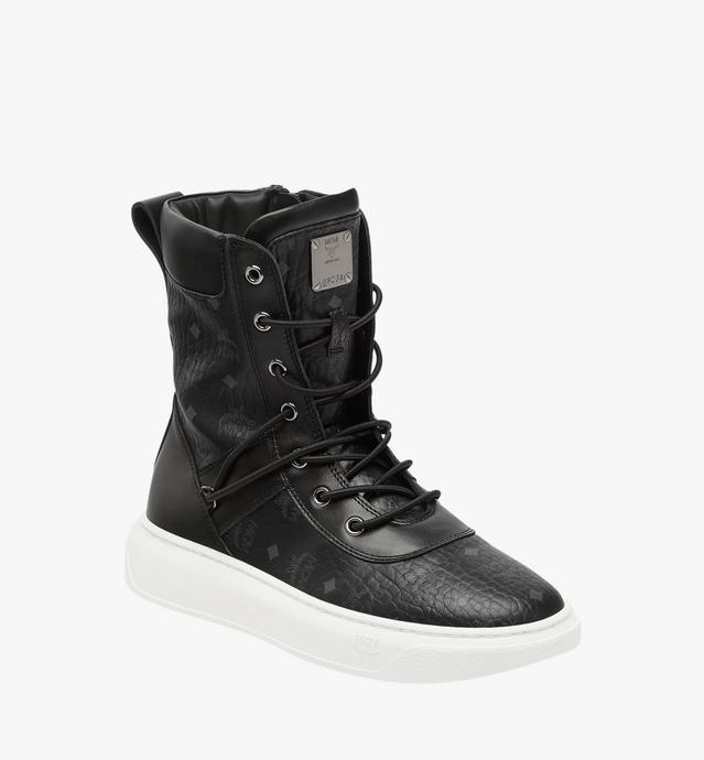 Women's Lace Up Boots in Visetos