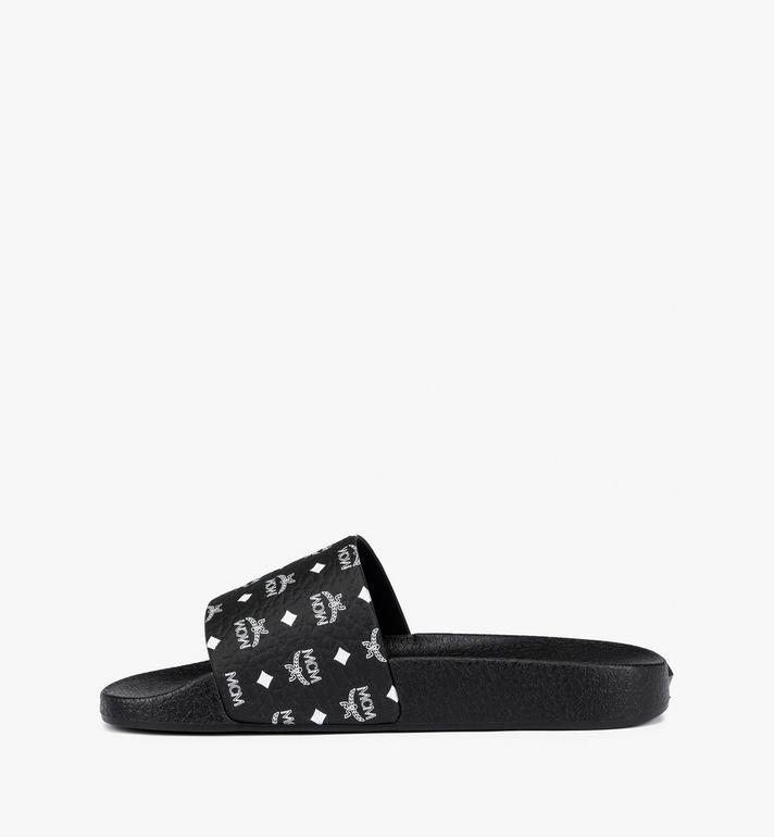 MCM Claquettes en caoutchouc pour femme Black MES8AMM60BK035 Alternate View 4