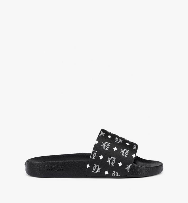 MCM 女士经典印花橡胶拖鞋 Black MES8AMM60BK037 Alternate View 2