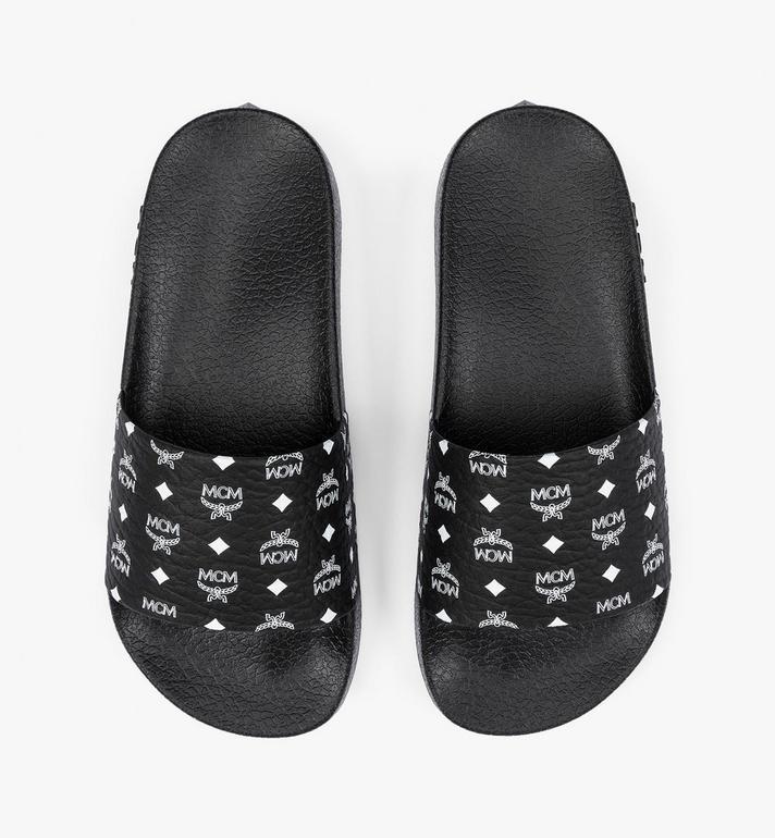 MCM 女士经典印花橡胶拖鞋 Black MES8AMM60BK037 Alternate View 5