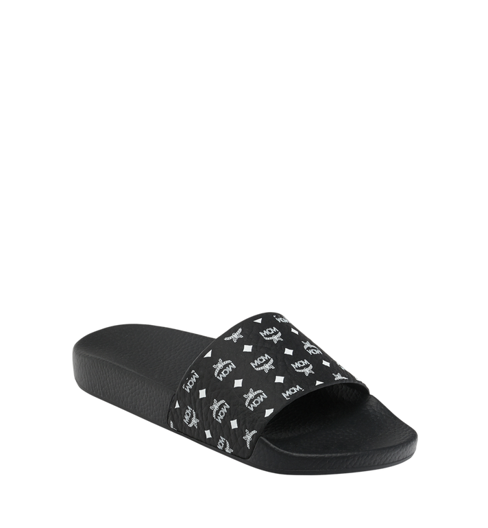 MCM Women's Slides in Monogram Rubber Alternate View