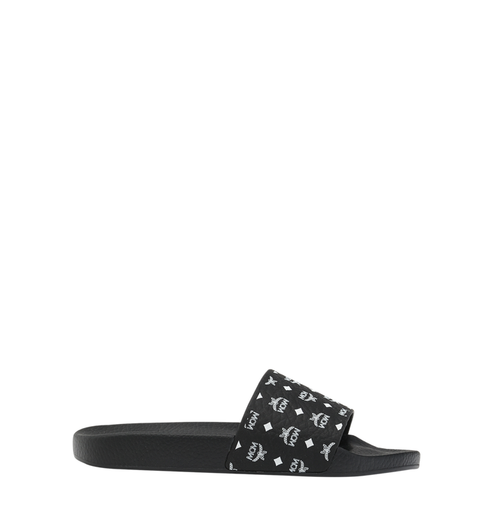 MCM Women's Slides in Monogram Rubber Black MES8AMM60BK039 Alternate View 2