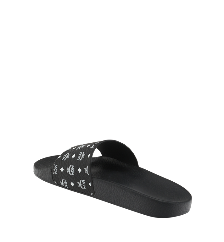 MCM Women's Slides in Monogram Rubber Black MES8AMM60BK039 Alternate View 3