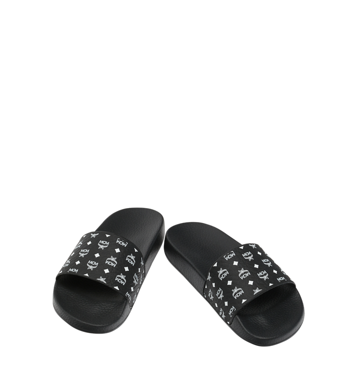 MCM Women's Slides in Monogram Rubber Black MES8AMM60BK039 Alternate View 4