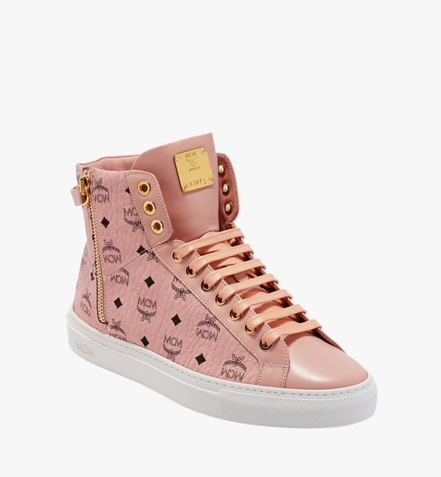 Women's High Top Turnlock Sneakers in Visetos