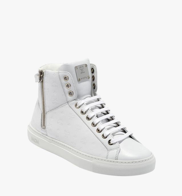 Women's High Top Turnlock Sneakers in Monogram Lea