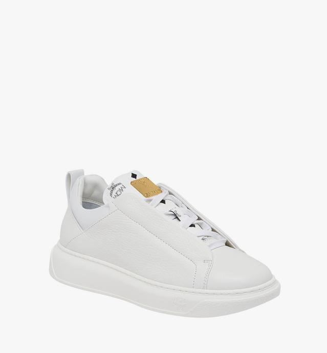 Women's Low Top Diamond Sole Sneakers in Leather