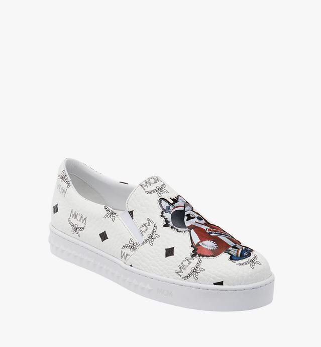 Women's Slip On Sneakers in Rabbit Visetos