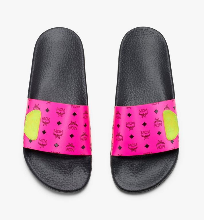 MCM 女士 Flo 經典拖鞋 Pink MES9ALC76QP036 Alternate View 5