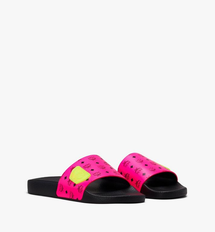 MCM Women's Flo Monogram Rubber Slides Alternate View