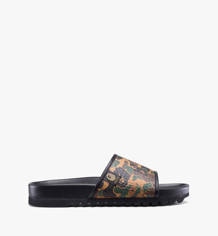 MCM Women's MCM x BAPE Slides in Camo Visetos Alternate View 2