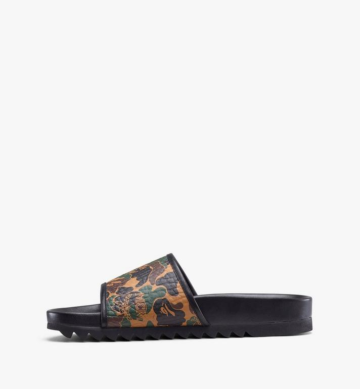 MCM Women's MCM x BAPE Slides in Camo Visetos Alternate View 4