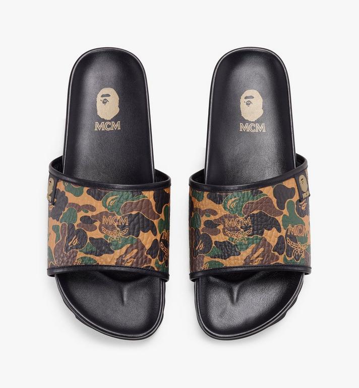 MCM รองเท้าแตะผู้หญิงลาย Camo Visetos คอลเลคชั่น MCM x BAPE  MES9AMB02CW050 Alternate View 5