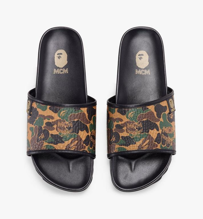 MCM Women's MCM x BAPE Slides in Camo Visetos Alternate View 5