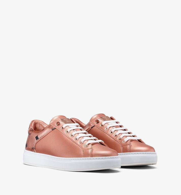 MCM Women's Low-Top Sneakers Gold MES9AMM00TC040 Alternate View 1