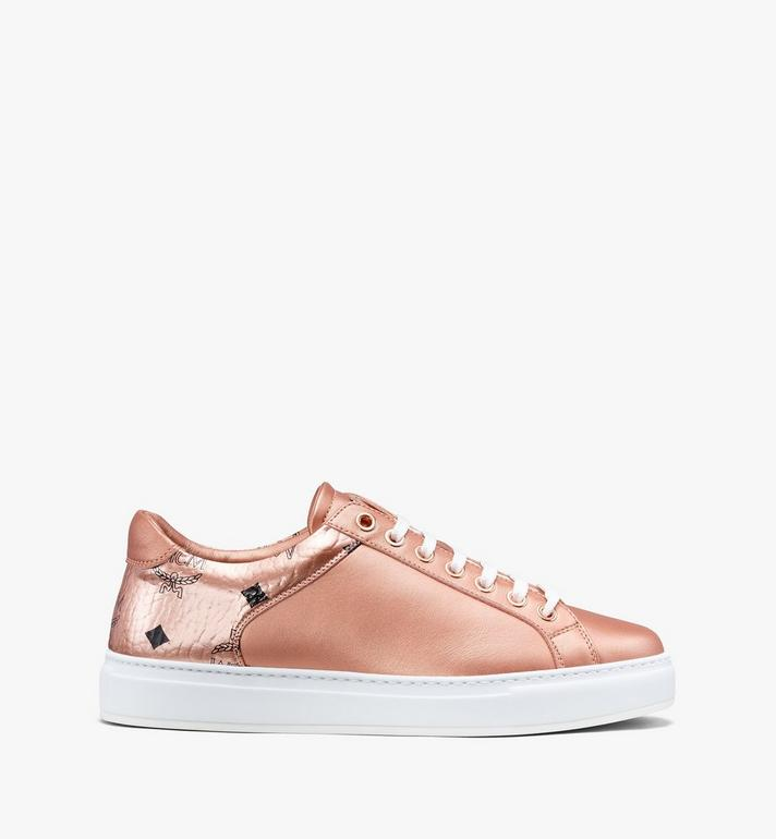 MCM Women's Low-Top Sneakers Gold MES9AMM00TC040 Alternate View 2