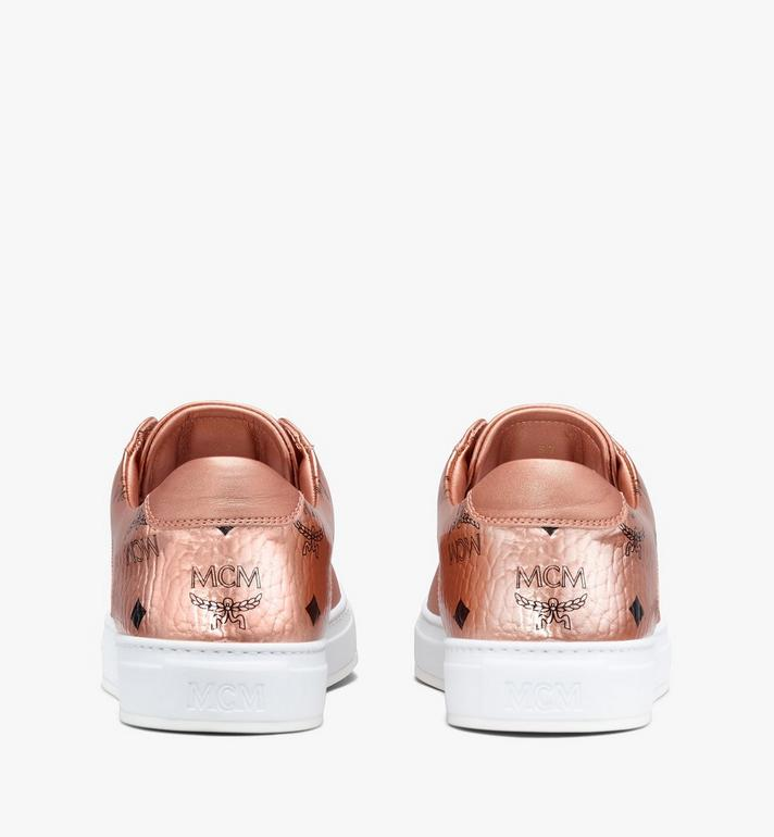 MCM Women's Low-Top Sneakers Gold MES9AMM00TC040 Alternate View 3