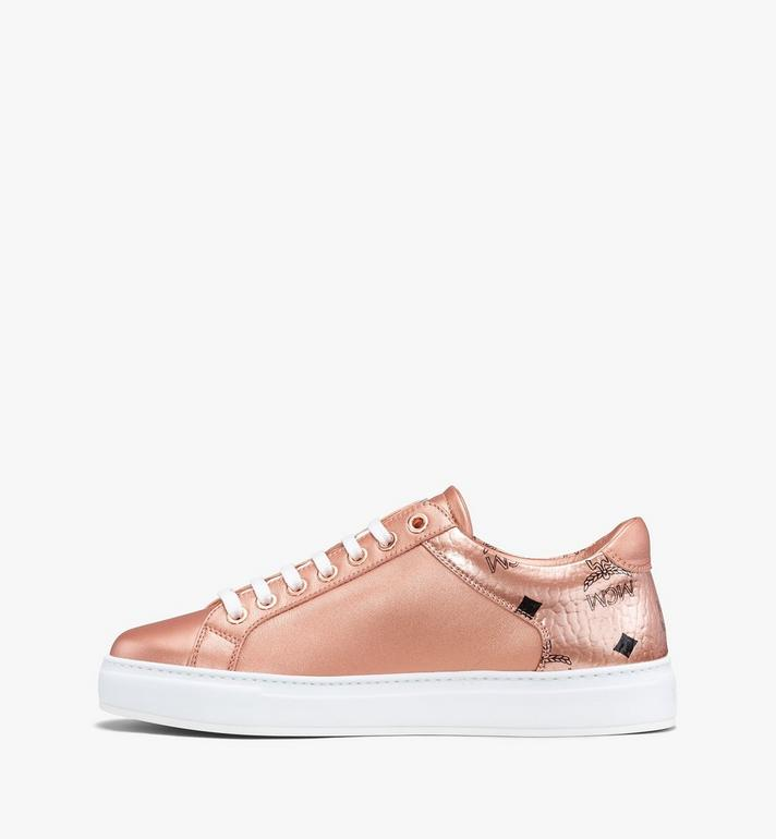 MCM Women's Low-Top Sneakers Gold MES9AMM00TC040 Alternate View 4
